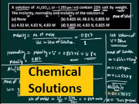 IIT JEE chemistry video lecture | Chemical solutions