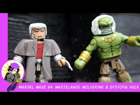 Minimates Marvel Wave 64 Wastelands Wolverine And Dystopia Hulk Review