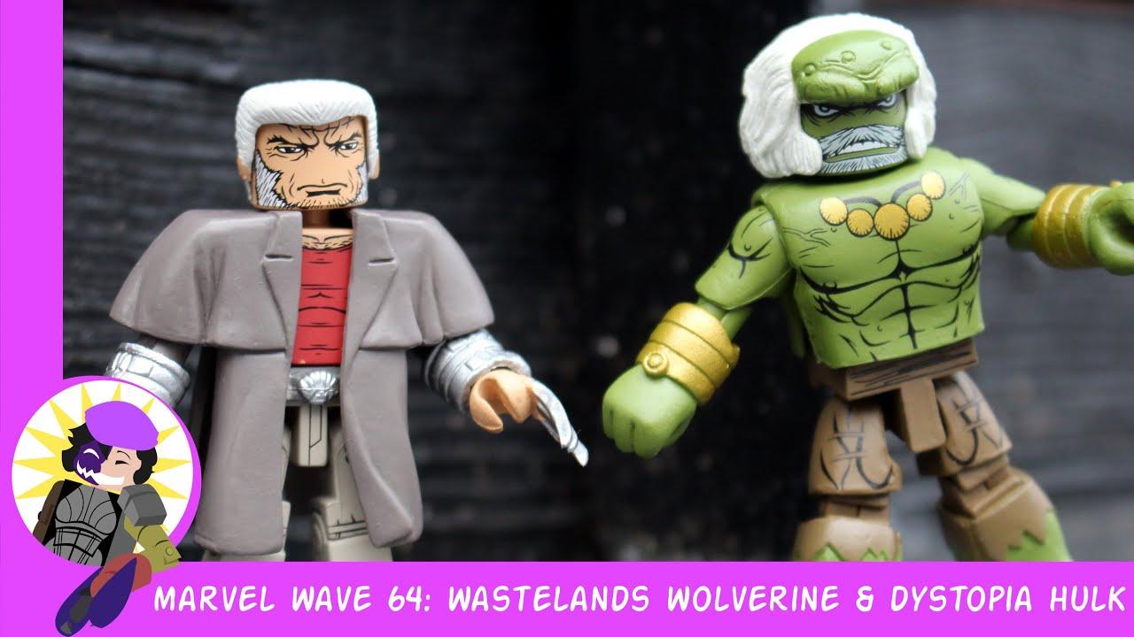 Marvel Minimates Series 64 Secret Wars Wastelands Wolverine /& Dystopia Hulk