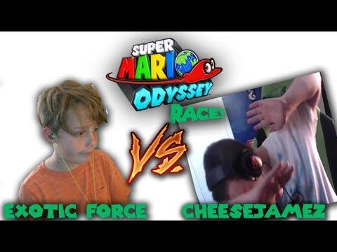 Exotic Force vs CheeseJamez | SMO: Any% Speedrun Race | Splitscreen POV