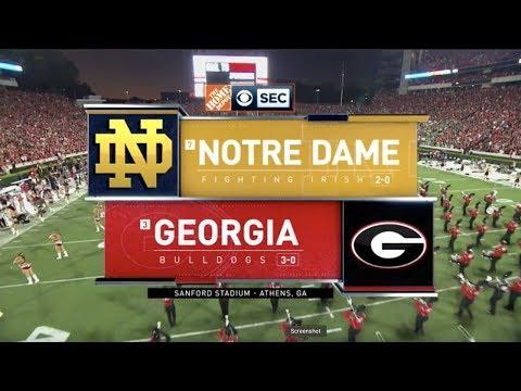 2019 #7 Notre Dame At #3 Georgia