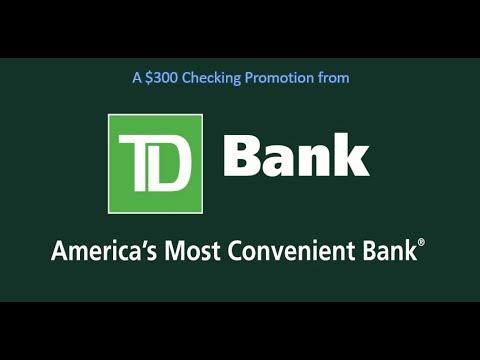 TD Bank Premier Checking Promotion: $300 Bonus