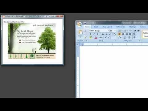 Screencasting your PowerPoint presentation: Recording Individual Window