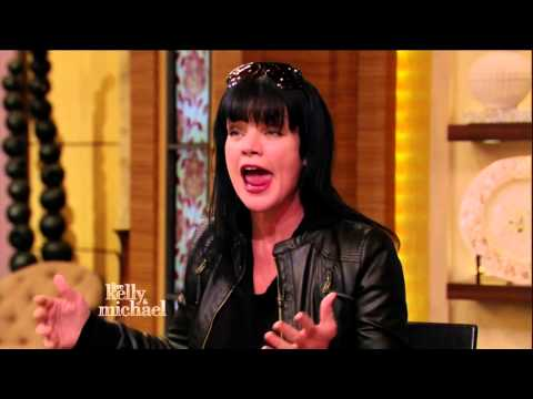 Actress Pauley Perrette in black riding boots