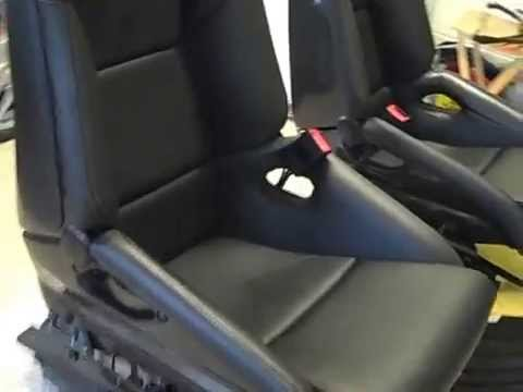 Porsche Gt2 Carbon Fiber Sport Bucket Seats Youtube