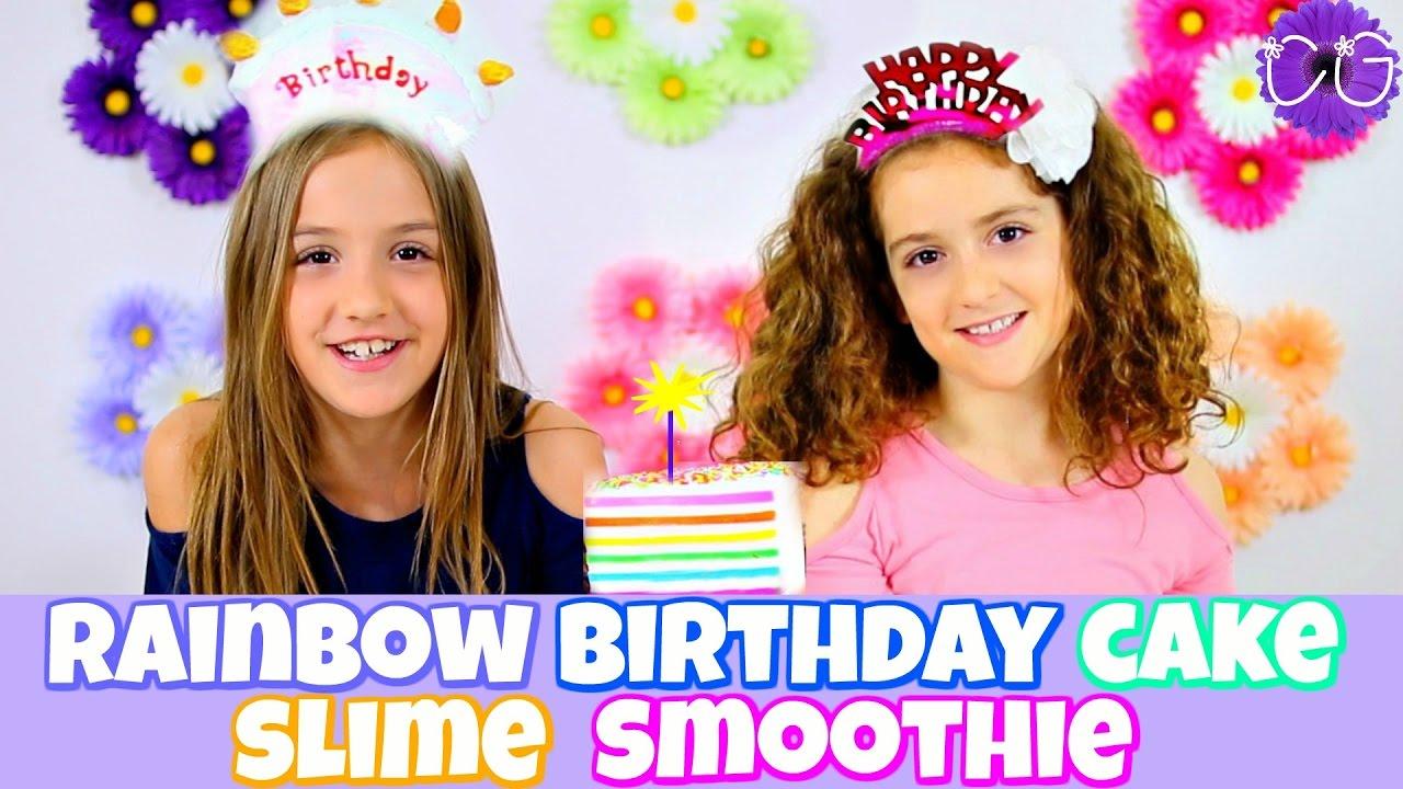 Rainbow Birthday Cake Slime