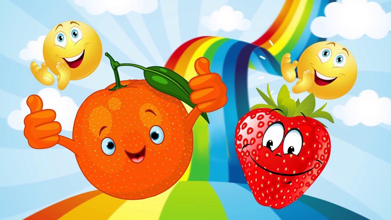 Изучаем цвета - фрукты и овощи.Развивающее видео для ...