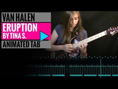TINA S - EDDIE VAN HALEN - ERUPTION GUITAR SOLO COVER - Animated Tab