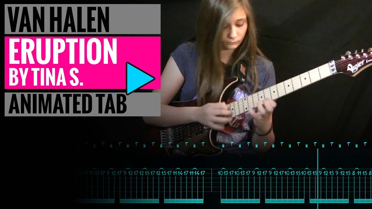 TINA S - ERUPTION TAB - EDDIE VAN HALEN - GUITAR LESSON - YouTube