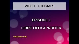 libre Office writer in Ubuntu-Basic Formating-Tutorial in Malayalam