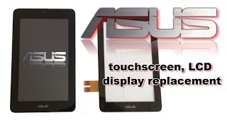 asus memo pad me172v touchscreen disgitizer lcd dysplay battery replacement how to disassemble