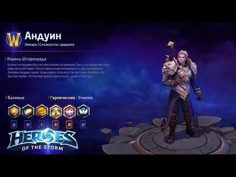 видео: heroes of the storm/Герои шторма. pro gaming. Андуин. heal билд.