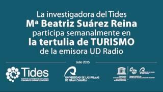 La investigadora Beatriz Suarez Reina participa en la Tertulia de Turismo de UD Radio