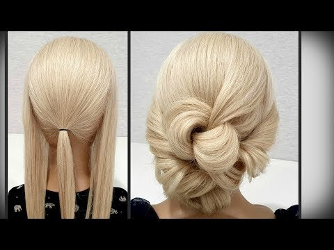 Прическа сделана Только из РЕЗИНОК. Быстрая Прическа. Hairstyle Only from rubber bands for hair thumbnail