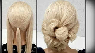 Прическа сделана Только из РЕЗИНОК. Быстрая Прическа. Hairstyle Only from rubber bands for hair