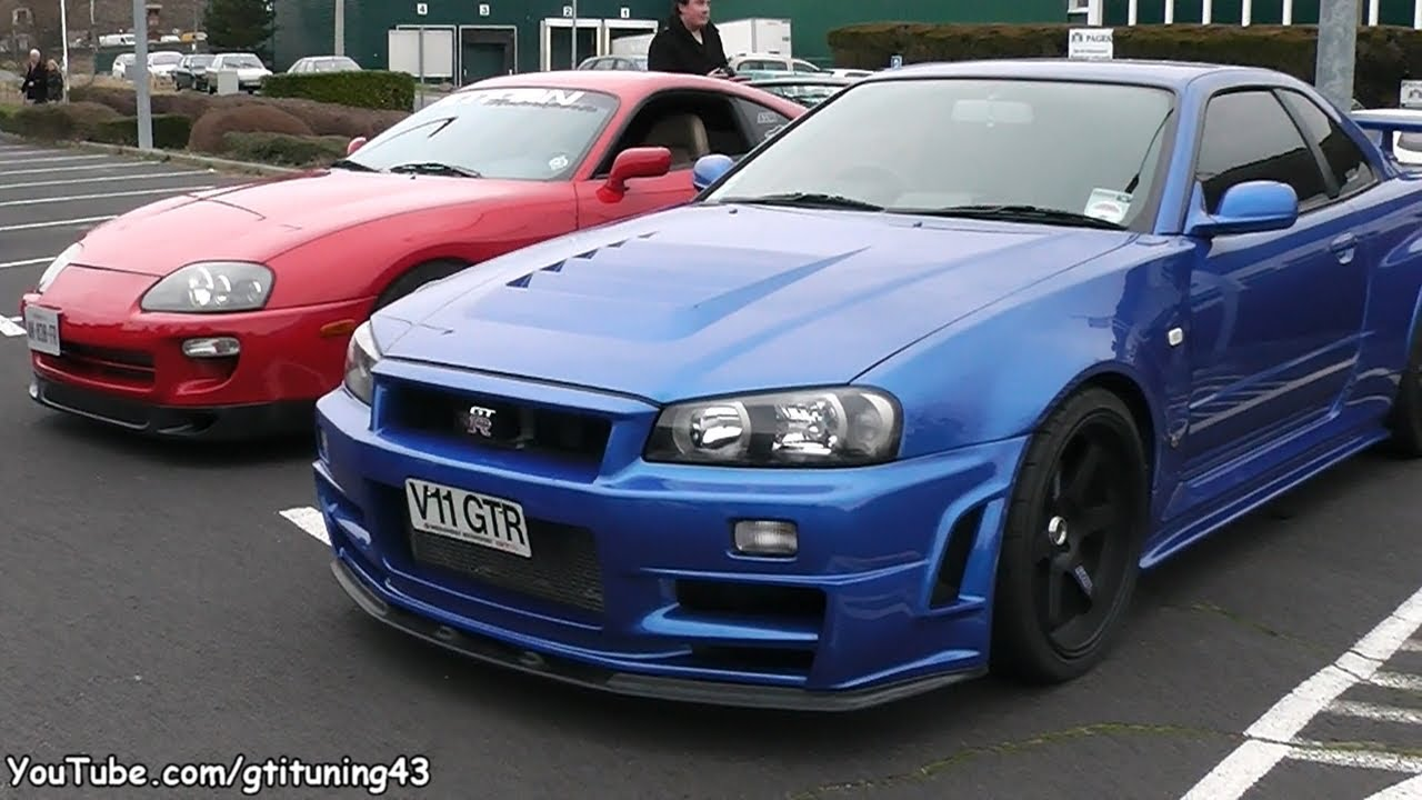 Tuned Nissan Skyline R34 Gtr Tuned Toyota Supra Youtube