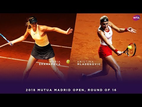 Maria Sharapova vs. Kristina Mladenovic  2018 Mutua Madrid Open Round of 16  WTA Highlights