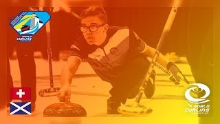 Switzerland v Scotland - Men's Round-robin - World Junior Curling Championships 2019