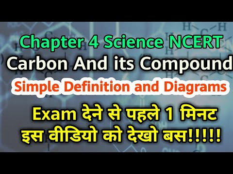 Most important notes of Carbon and its compound | class 10