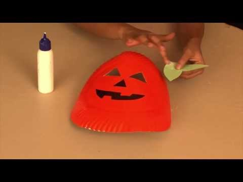 How to make a Pumpkin Mask - Arts and Crafts