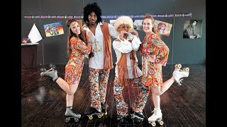 Roller Girl Hôtesses x FRANCE PUB TV - Un show 70's Hippie