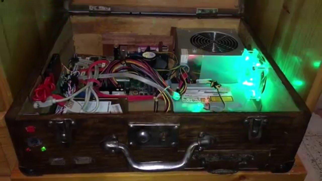 Pc en maleta de madera youtube - Como hacer una mesa de ordenador ...