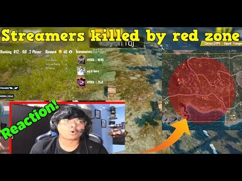 When Streamers Get Killed By Red Zone And Their Reactions