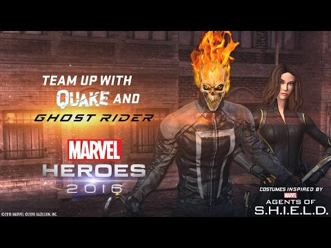 Team Up With Quake and Ghost Rider! Inspired by Marvel