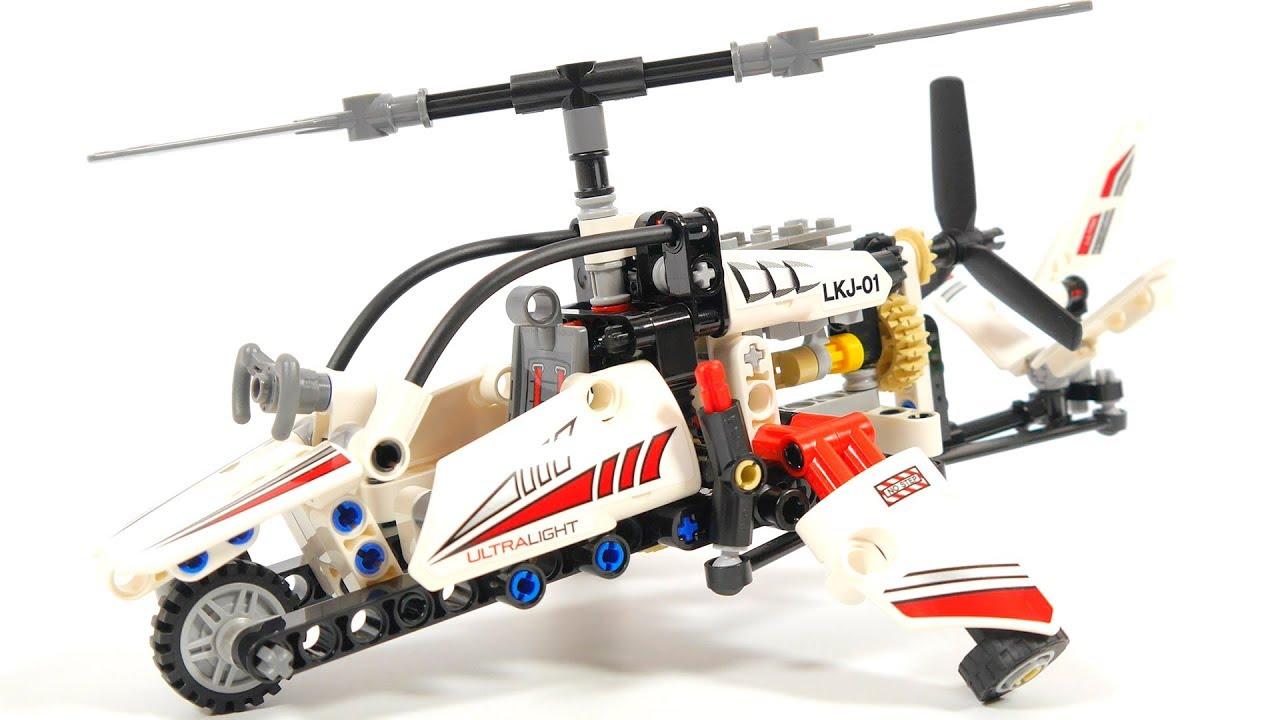 Lego Technic 42057 Ultralight Helicopter Youtube