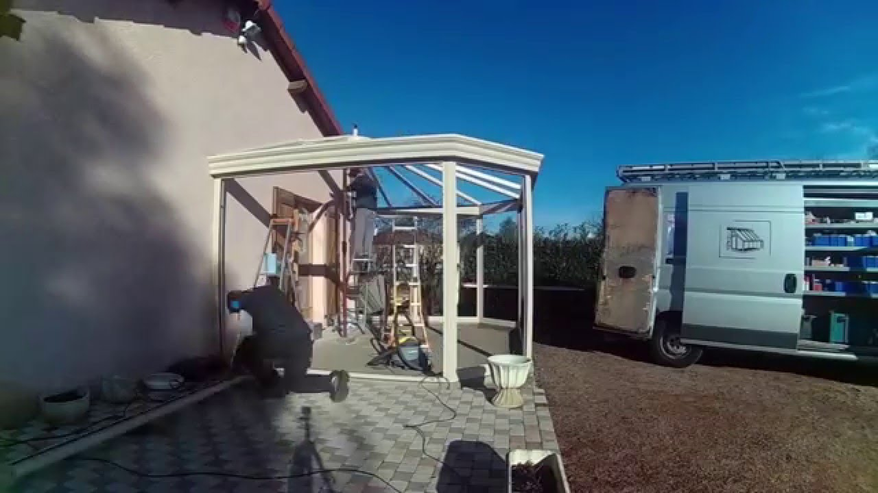Time lapse construction d 39 une v randa en 3min 2016 for Construction d une veranda