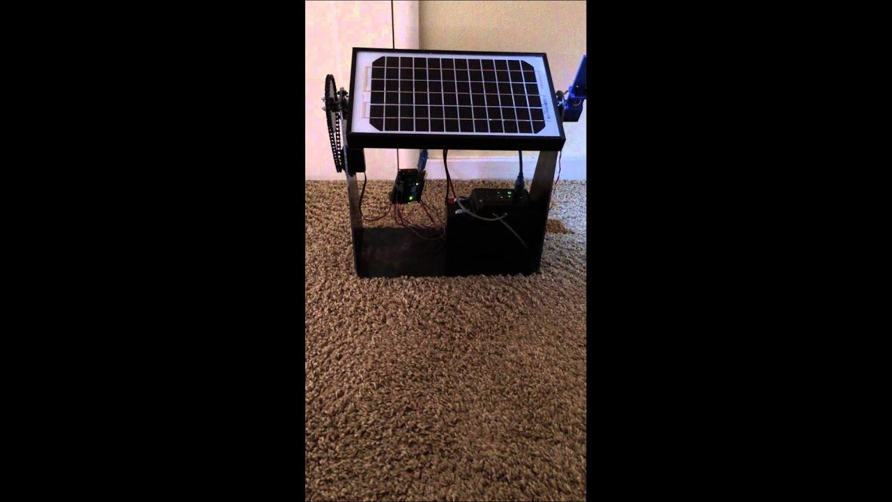Single axis solar tracker arduino youtube