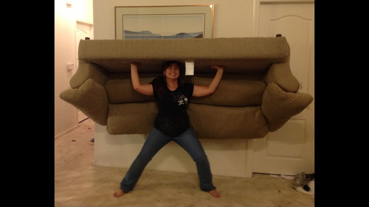 Wonderful How To Move A Couch Without A Man Or A Truck.   YouTube