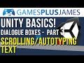 Unity Basics - Scrolling/Autotyping Text