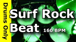 Surf Drum Beat/Backing Track 160 BPM - Jim Dooley