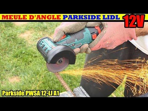 scie circulaire parkside  lidl pwsa 12v sans fil Cordless Angle Grinder Winkelschleifer