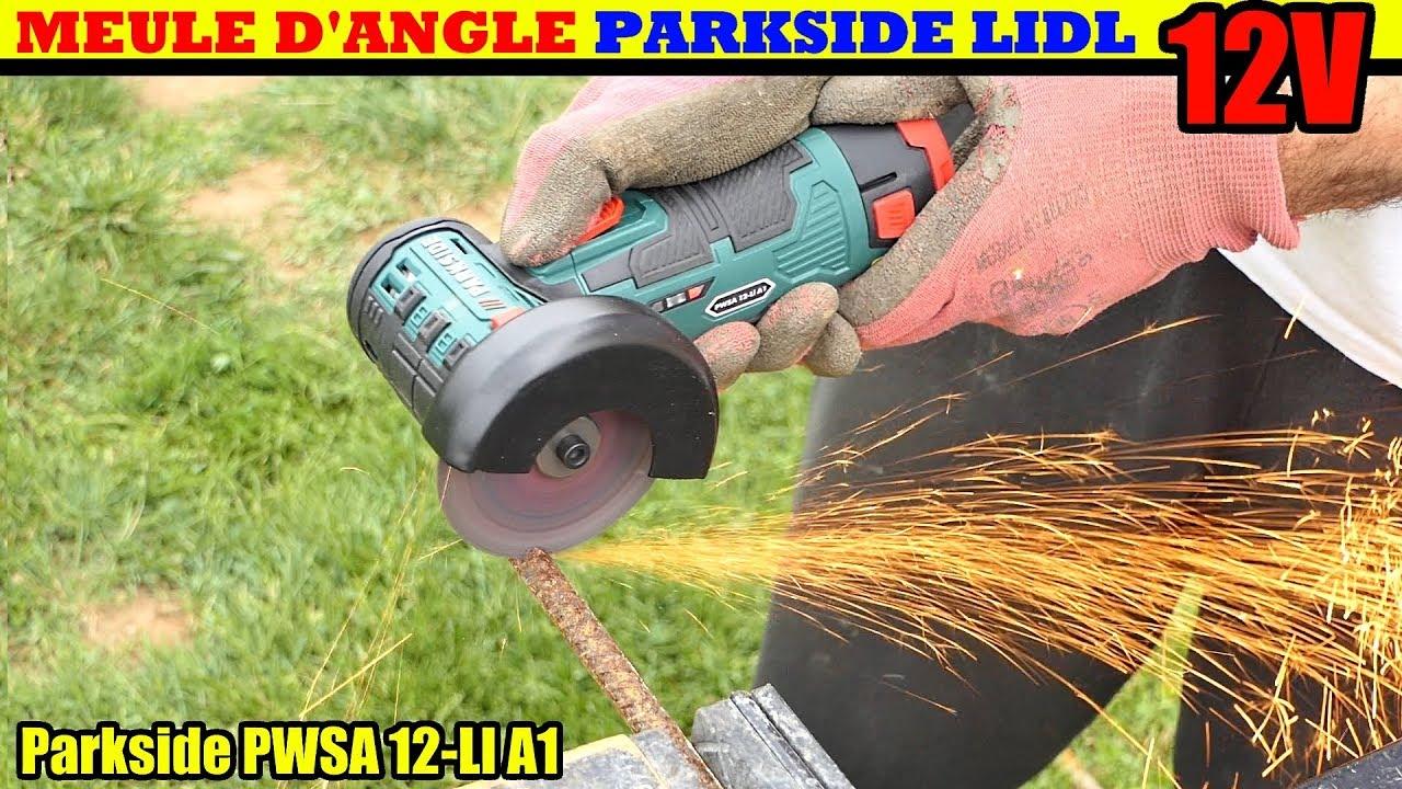 Meuleuse d 39 angle parkside lidl pwsa 12v sans fil cordless for Smerigliatrice angolare lidl