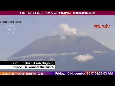 Bali Volcano : Mount Agung – Gunung Agung update real time 10112017