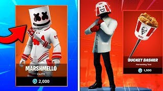 Fortnite UPDATE! MARSHMELLO SKIN! KFC Chicken Champ Skin Bundle RELEASE DATE! Marshmallow How To Get