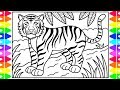 How to Draw a TIGER for Kids 🧡🖤 Tiger Drawing for Kids | Tiger Coloring Pages for Kids