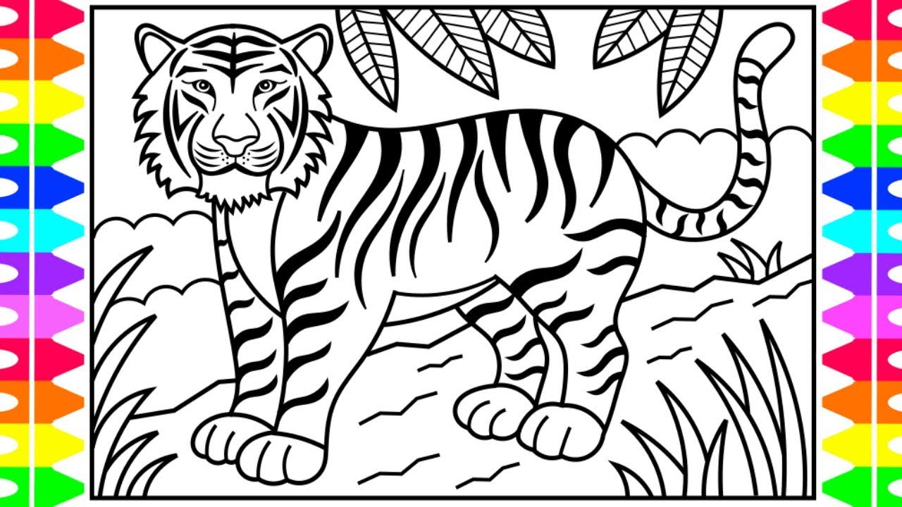 How to Draw a TIGER for Kids 🧡🖤 Tiger Drawing for Kids | Tiger ...