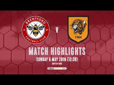 2017/18 HIGHLIGHTS: Brentford 1-1 Hull City