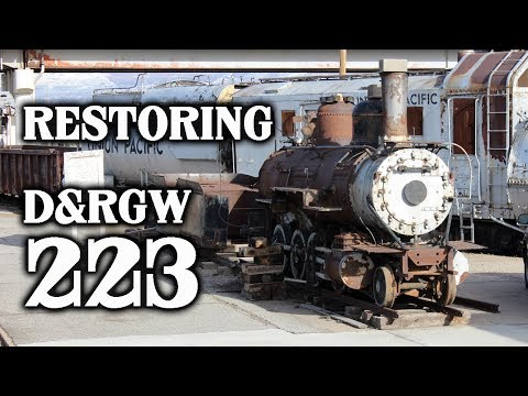 Restoring a 130-year-old steam locomotive, D&RGW 223