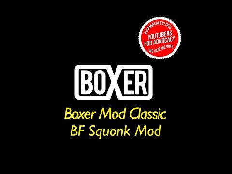 The BOXER MOD CLASSIC BF SQUONK MECHANICAL MOD by GINGER VAPER