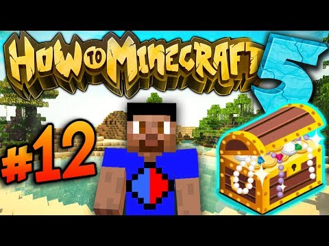 FISHING FOR TREASURE! - How To Minecraft S5 #12