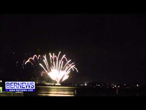Fireworks Display At NYE In St George's, Dec 31 2013