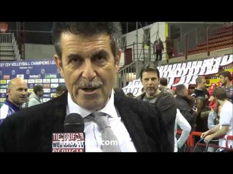 Sir Perugia  Ankara 3-1. Intervista al pres. Sirci post partita