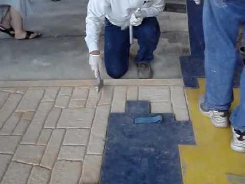Como se hace concreto estampado youtube for Estampado de hormigon