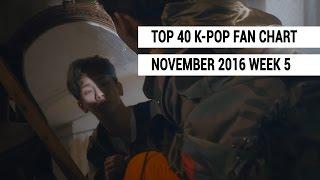 top 40 k pop songs chart november 2016 week 5 fan chart