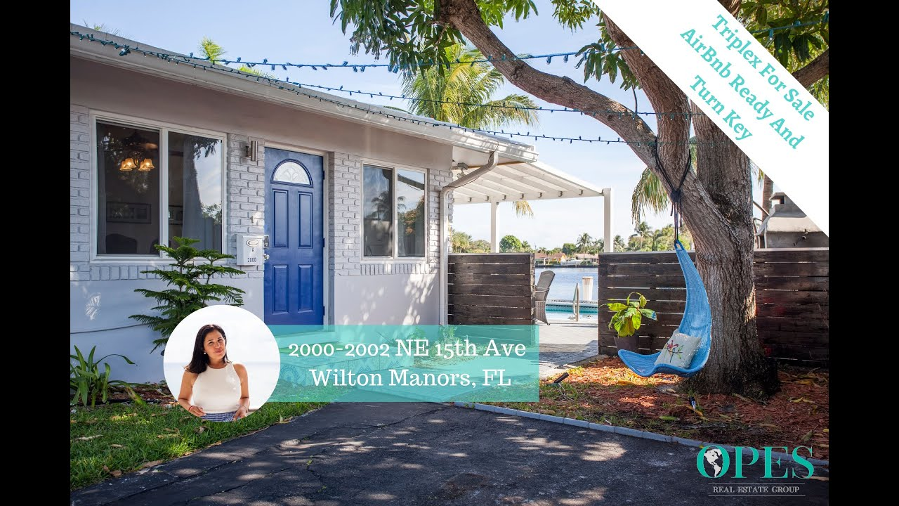 Waterfront AirBnb Ready Triplex For Sale In Wilton Manors FL. Start Earning Passive Income Today!