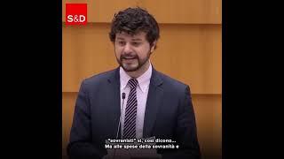Intervento in Plenaria a Bruxelles di Brando Benifei, capo delegazione Pd, sullo stato di diritto.